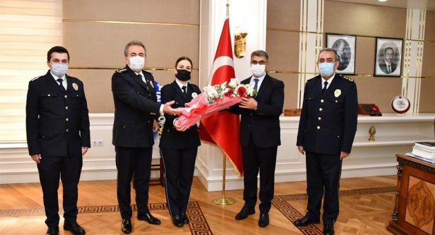 Emniyet Teşkilatından Vali Gürel'e Polis Haftası Ziyareti
