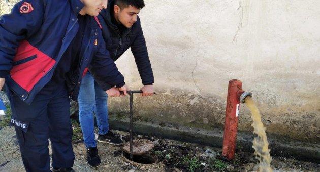 Stajyerler Safranbolu'da Yangın Vanalarını Kontrol Etti