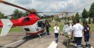 Hava ambulansı küçük bebek için havalandı